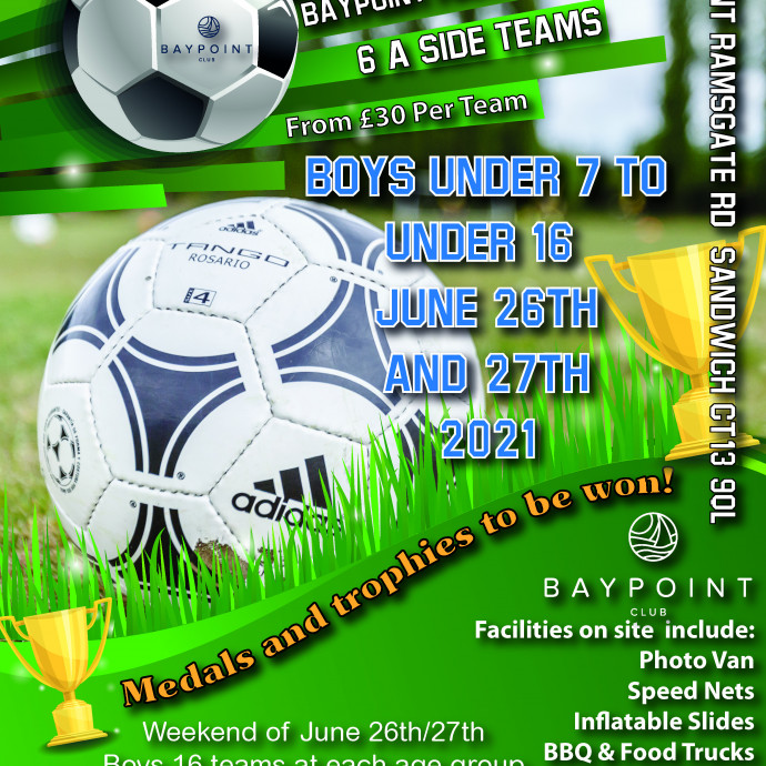 Football Tournament - 26th and 27th June - Boys